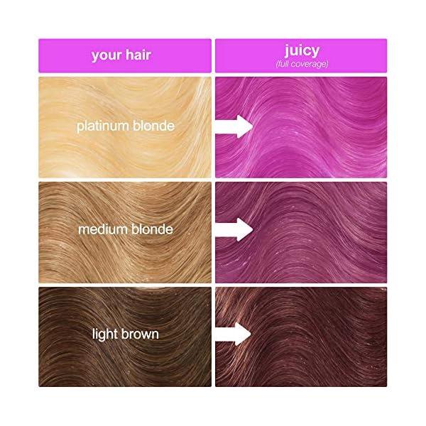Lime Crime Unicorn Hair Dye, Juicy - Fuschia Fantasy Hair Color - Full Coverage, Ultra-Conditioning, Semi-Permanent, Damage-Free Formula - Vegan - 6.76 fl oz 8