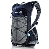 Vibrelli Hydration Pack & 2L Hydration Water Bladder - High Flow Bite Valve - Hydration Backpack...