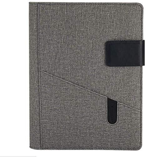 Cuaderno de trabajo de hojas sueltas para empresas, cuaderno de oficina, registro de trabajo, cuaderno de bolsillo para tarjetas de visita (color: gris, tamaño: 2 libros)