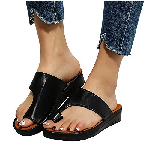 CCCS Damen Retro Sommersandalen Big Toes Sandalen Und Hausschuhe rutschfeste Atmungsaktive Strandreiseschuhe