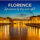FLORENCE Impressions by day and night  Wall Calendar 2021 300 &times 300 mm Square : Heart of the historic city center