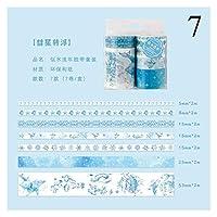 独立して 7ピース/セットレトロマスキングテープかわいい植物の花和紙テープ装飾的な粘着テープステッカースクラップブッキング日記文房具 共同パートナーシップ (Color : 7)