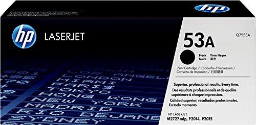 HP 53A Q7553A Cartuccia Toner Originale, Compatibile con Stampanti LaserJet P2014, P2015, P2015n, P2015dn, M2727 NF e M2727 NFS, Nero