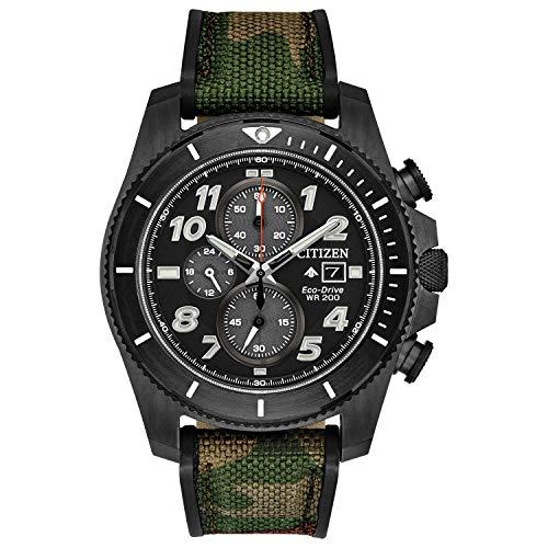 Citizen Eco-Drive Promaster Tough Quartz Reloj para hombre, acero inoxidable con correa...