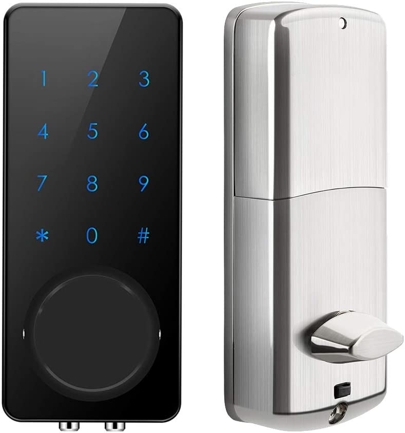 AKASO Smart Lock Touch Screen APP Code Entrance Special price for a limited time Keypad Deadbolt Year-end annual account
