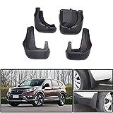 Qiaodi 4 guardabarros de coche para Honda CRV 2012-2016, guardabarros para ruedas de coche, color negro