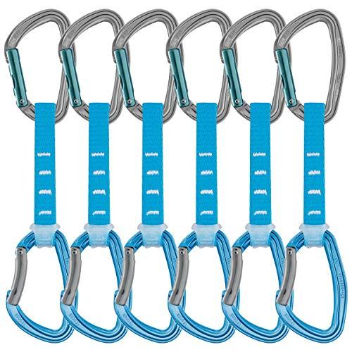 PETZL Pack de 6 DJINN AXESS quickdraws 12 cm Gris/bleu
