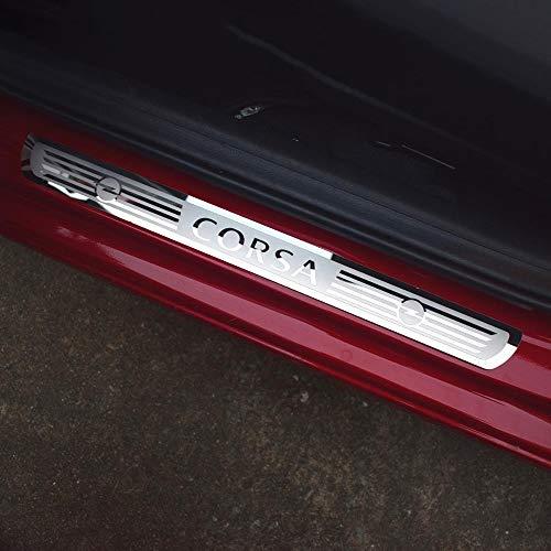 wowowa 4 Stück Edelstahl-Verschleißplatte Einstiegsleiste Autozubehör Auto-Styling für OPEL Astra Corsa ADAM 2016-2019