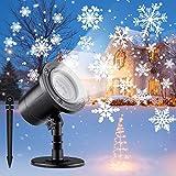 ShuBel Lámpara Proyector Navidad para Exteriores, Proyector Copo Nieve LED Luz Blanca, Luz Exterior / Interior, IP65 Prueba Agua, Luz Proyector Iluminación, Navidad Decorar Jardín / Fiesta