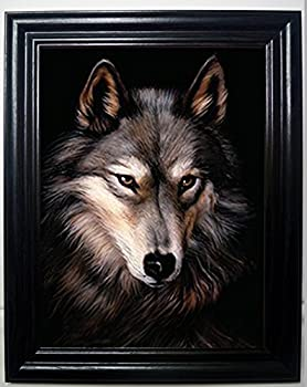 Those Flipping Pictures Lone Wolf 3D Framed Wall Art-Lenticular Technology Causes The Artwork to Have Depth and Move-Hologram Style Images-Holographic Optical Illusions