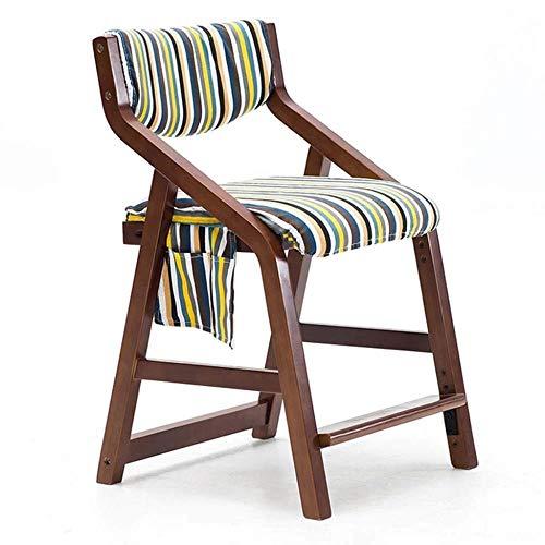 FENG Ergonomische bureaustoel stoel Verstelbare leerstoel voor het eten Lezen Tekenen Bureau Stoel met Verwijderbare Stoel Cover en Opbergtas F