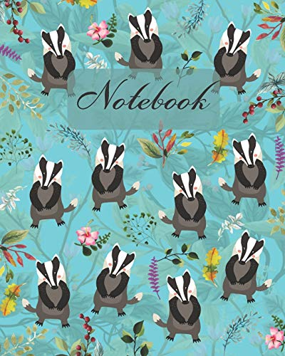 """Notebook: Cute Badger - Animals Diary / Notes / Track / Log / Journal , Book Gifts For Women Men Kids Teens Girls Boys Friends 8x10"""" 110 Pages"""