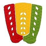 Almohadilla de Cola Skimboard Funda de Tracción Tabla de Tracción 3 Pedazos para Funboard Shortboard