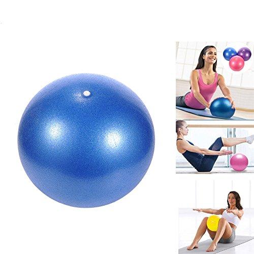 Pelota de yoga Pilates PVC a prueba de explosiones, resistencia, estabilidad, equilibrio de fitness, para niños embarazadas y mujeres, 25 cm, azul