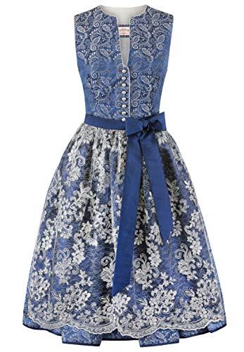 Stockerpoint Damen Dirndl Leah Kleid für besondere Anlässe, blau, 38