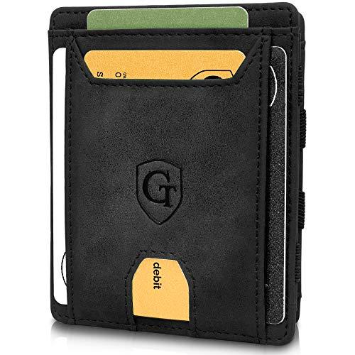 GenTo® FLAPLET II - Geldbörse für Herren und Damen - TÜV geprüft - Magic Wallet - Magischer Geldbeutel mit großem Münzfach - Inklusive Geschenkbox - Smart Wallet - Portemonnaie für Männer und Frauen