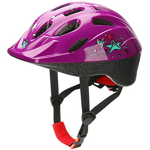 AGH Kids Adjustable Helmet, Suitable for Toddler Kids Boys Girls Aged 2-8, Multi-Sport Safety Cycling Skating Scooter Helmet with Fun Designs (Purple)
