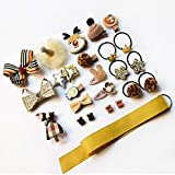 gao Niños BB Cute Bow Kids Hair Grip Accesorios Niñas Princess Hairpins Crown Barrettes Handmade Headwear 24Pcs / Box