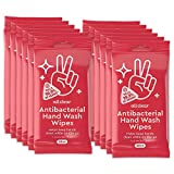 All Clear Antibacterial Hand Wash Wipes | 20 Count (Pack of 12) 240 Total Hand Sanitizing Wipes
