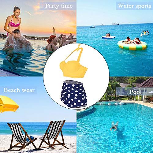 Yooeen Damen Hoher Taille Badeanzug 50er Retro Polka-Punkt Badeanzüge Bademode Zweiteiler Bikini Set Schwimmanzug - 5