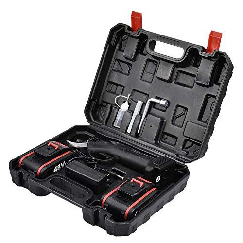 iBoosila 2AH - Cortacésped con batería, carga rápida, corte profesional, herramientas de corte para jardines de frutas afilados, cortacésped eléctrico de seguridad con caja de plástico