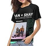 Dan+Shay T Shirt Women's Raglan Sleeve Baseball Shirt Stylish Round Neck Tee Black
