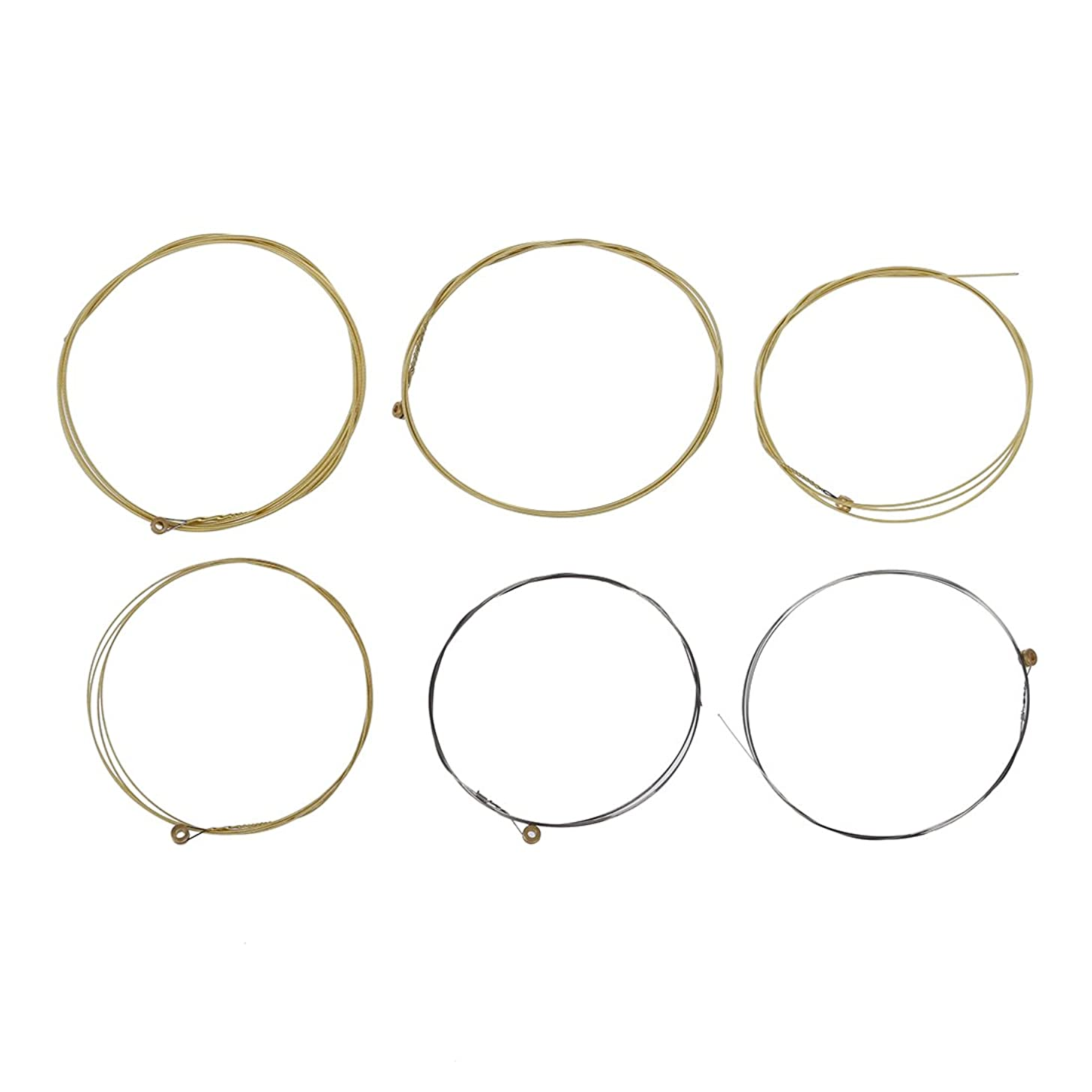 SODIAL(R) A set of 6 strings for acoustic guitar.