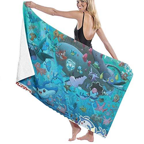 FSTGF Strandtuch aus Baumwolle, Mikrofaser, saugfähig, schnelltrocknend, Handtuch – Pok-ém-on Ran-ger und der Tempel des Meeres