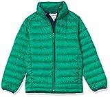 Amazon Essentials Kids Boys Light-Weight Water-Resistant Packable Puffer Jackets Coats, Green, Small