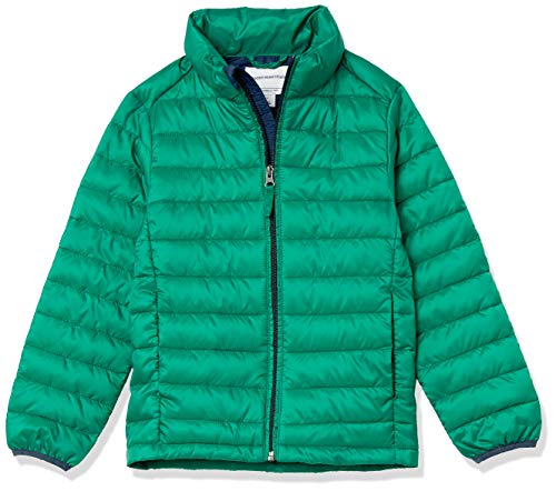 Amazon Essentials Light Weight Water Resistant Packable Puffer Jackets Coats Green 11 12 Years