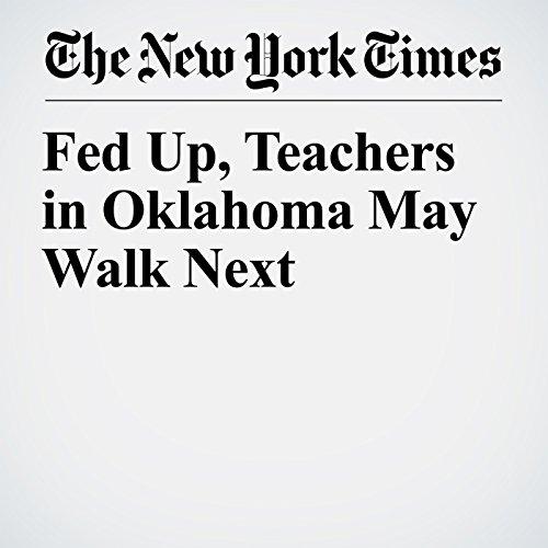 Fed Up, Teachers in Oklahoma May Walk Next copertina