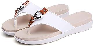 Hemore Women Flip Flops Casual Style Flat Clip Toe Sandals Platform Thongs Sandals Summer Beach Shoes