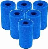 Denkmsd Espuma de filtro de piscina, para filtro de piscina Intex tipo A, esponja de filtro, reutilizable, para acuario (6 unidades)