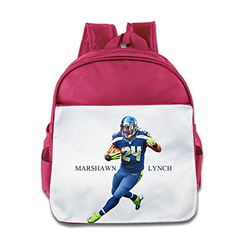 XJBD Custom Funny Marshawn Lynch Teenager School Bagpack For 1-6 Years Old Pink