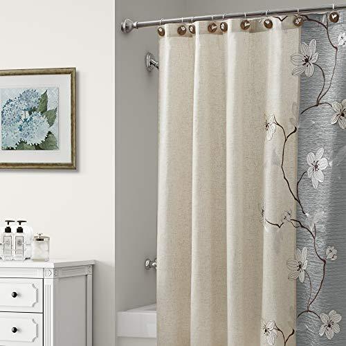 Croscill Magnolia Shower Curtain Slate Grey