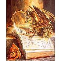 大人のための1000ピースパズル-ドラゴン読書本ジグソーパズル、26x38cmのユニークなカットピース