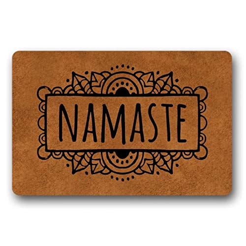 N/A Felpudo Namaste Welcome, Felpudo Divertido, Duradero, Lavable A Máquina, para Interiores, Exteriores, Hogar, Dulce, Apartamento, Divertido Felpudo Pasillo Exterior Tapete Absorbente