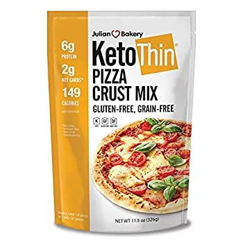 Julian Bakery Keto Thin Pizza Crust Mix | Gluten-Free | Grain-Free | Low Carb | Makes One 14  or Two 10  Pizzas | Single Pack…