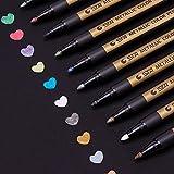 Metallic Marker Stifte Set, ANYUKE 10 Farben Permanent Brush Pen für Fotoalbum zum Selbstgestalten,...