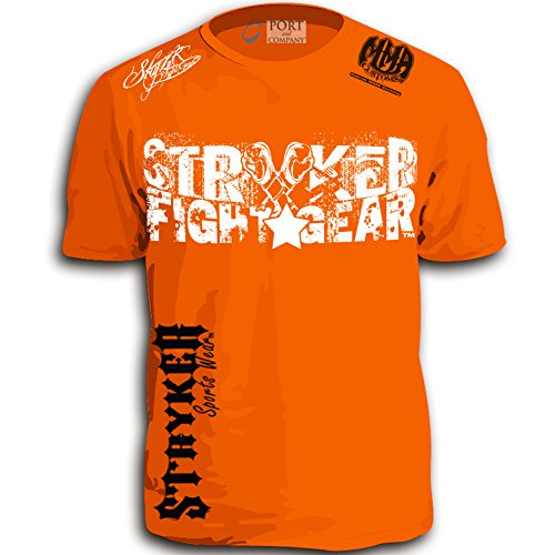 Stryker Splatter Shorts Sleeve T-Shirt Top Tapout UFC MMA Brazilian Jiu Jitsu (3XL, Orange)