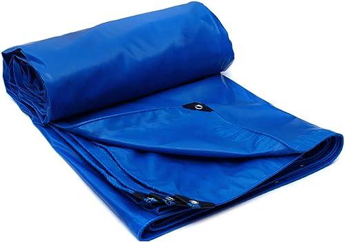HQCC Le bache imperméable bleue de PVC de bache résistante a enduit le camion de prougeection contre le soleil de toile de prougeection de toile de soleil couvrant le tissu versé, 520g   m2