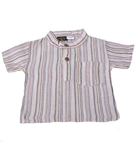 KUNST UND MAGIE Kinderhemd - Fisherhemd Kurtha Nepal, Farbe:Naturfarben;Kindergrößen:74-80