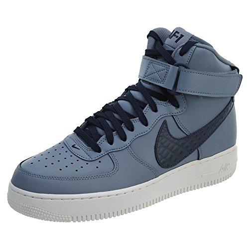 Nike Air Force 1 HIGH '07 LV8 Herren-Sneaker 806403, (Ashen Schiefer/Obsidian-Gipfel Weiß), 44 EU