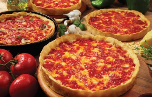 Four Lou Malnati's Deep Dish Pizzas (2 Cheese 2 Pepperoni)