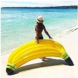 FXQ Cama Flotante Adulta de la Hamaca de la Fila, tumbonas inflables la Piscina del colchón de Aire del PVC de la balsa Flotante Inflable de la balsa de la Fila al Aire Libre para la Playa,Banana