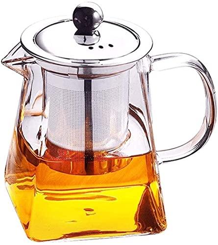 WECDS Teiera Bollitore Filtro In Acciaio INOX Resistente Al Calore Vetro Ad Alta Temperatura Piccolo Fiore Tè Set Da Tè Nero Casa