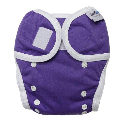 Bambinex Wrap - Die mitwachsende Überhose - Easy On / Easy Off - für Stoffwindeln z.B. Bambinex, Popolini, Mullwindeln, Bindewindel etc. / OneSize 3-15kg, purple lila