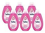 bebe Zartpflege Glanzshampoo, zartes und pflegendes Shampoo,reinigt sanft, Kindershampoo, 6er Pack...