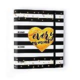 Grupo Erik Editores Premium Glitter - Carpeta troquelada, 4 anillas, 32 x 27.5 cm