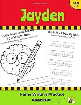 Paperback Jayden Name Writing Practice: Personalized Name Writing Activities for Pre-schoolers to Kindergarteners Book